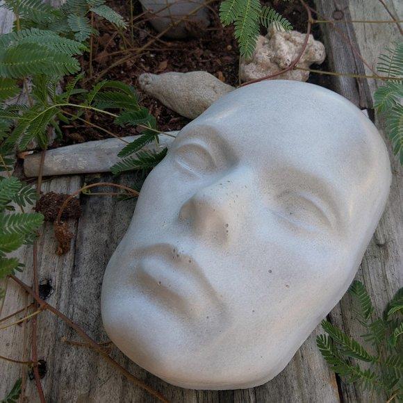 Cement Human Face Garden or Wall art